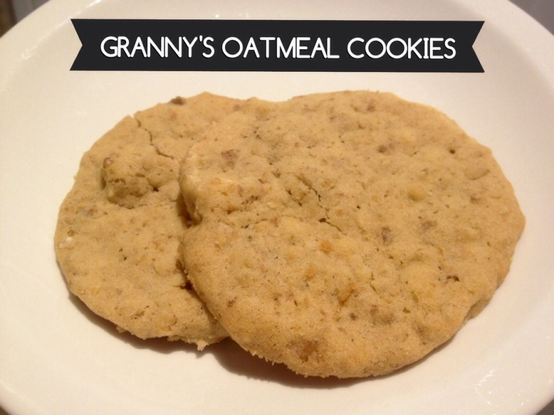 Granny's Oatmeal Cookies (Adventures with the Stewarts)